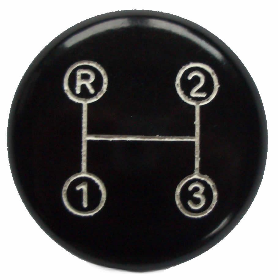 Oldtimer Jehle - Schaltknopf mit Schaltschema