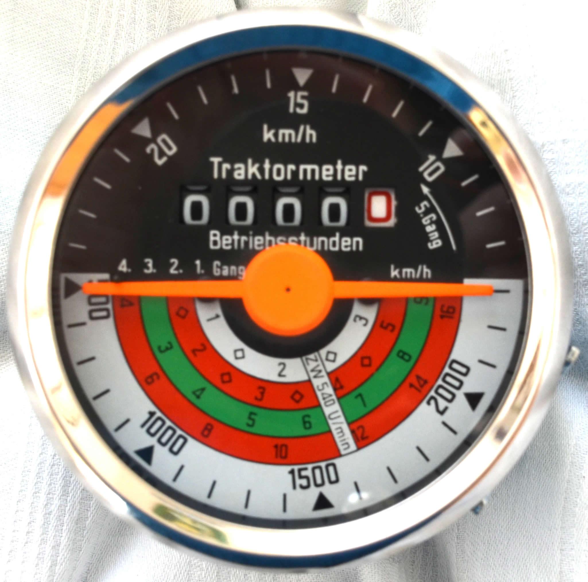 oldtimer jehle traktormeter passend f r deutz d serie d25 1 bis 25 km h. Black Bedroom Furniture Sets. Home Design Ideas